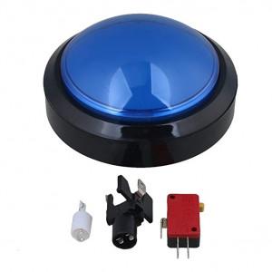 Przycisk BIG Push monostabilny 3A/250V niebieski, podświetlenie 12V