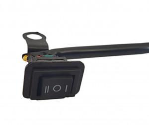 Przełącznik ON-OFF-ON z mocowaniem metalowym do rowerów, quadów, motorów