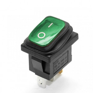 KCD1-101 8A 250V ON-OFF zielony IP65