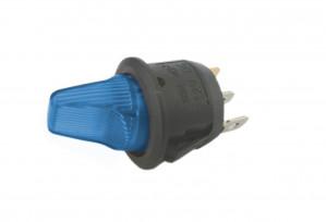 Przełącznik hebelkowy KCD1-101B niebieski ON-OFF 6A/250V podświetlenie 12V