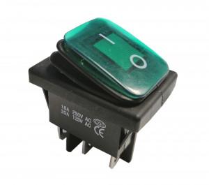 KCD4-G 16A 250V podwójny ON-ON IP65 zielony