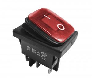 KCD4-R 16A 250V podwójny ON-ON IP65 czerwony