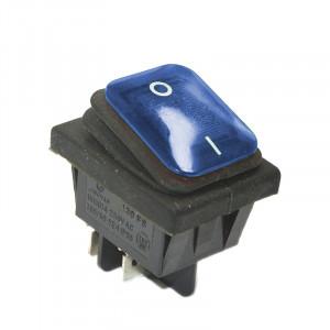 KCD4-BLU 16A 250V podwójny ON-OFF IP65 niebieski