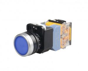 LA38 Przełącznik tablicowy monostabilny 22mm 10A 380V niebieski