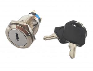 Przełącznik z kluczykiem PBW-19KE 2A/250V 2 pozycje ON-ON