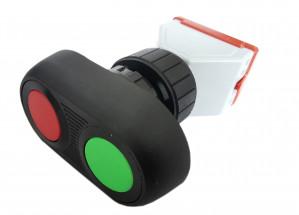 Przycisk BA8097 monostabilny 10A/250V czerwony/zielony (NC/NO)