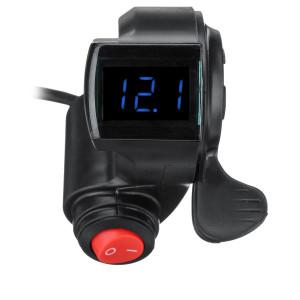Manetka gazu kciukowa z woltomierzem niebieskim LED do rowerów elektrycznych