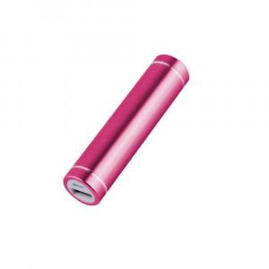 Obudowa powerbank na 1 akumulator 18650 (USB 5V 1A) różowa