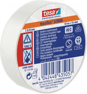 Taśma izolacyjna 15mm x 10m biała TESA