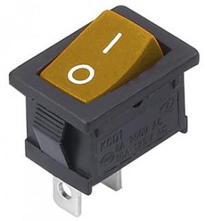 MRS101 A-C3Y 6A 250V pojedynczy żółty ON-OFF