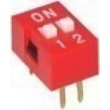 DIP Switch x2 Czerwony l=70szt