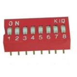 DIP Switch x8 Czerwony l=22szt