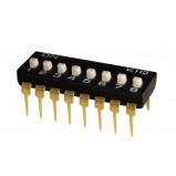 DIP Switch IC x8 Czarny l=22szt