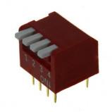 DIP Switch Piano x4 Czerwony l=41szt
