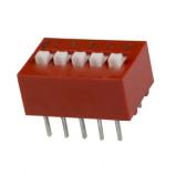 DIP Switch x5 Czerwony l=33szt