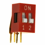 DIP Switch kątowy x2 Czerwony l=86szt