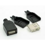 Gniazdo USB typu A na kabel z osłoną
