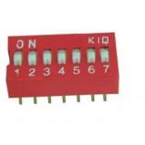 DIP Switch x7 Czerwony l=24szt