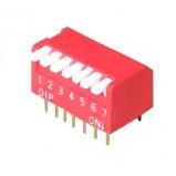 DIP Switch Piano x5 Czerwony l=33szt