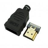 Wtyk HDMI złocony na kabel z osłoną
