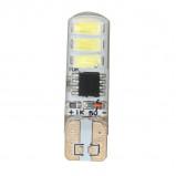 Żarówka LED 12V T10 1.2W IP65 Niebieska z funkcją migania