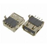 Gniazdo USB typu A do montażu SMD Czarne