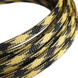 Oplot poliestrowy 4mm/8mm R=100m czarno-żółty