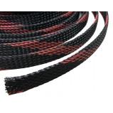 Oplot poliestrowy 4mm/8mm R=100m czarno-czerwony typ1
