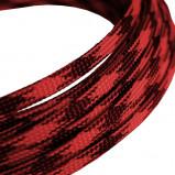 Oplot poliestrowy 4mm/8mm R=100m czarno-czerwony typ3
