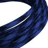Oplot poliestrowy 4mm/8mm R=100m czarno-niebieski