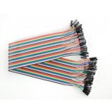 Zestaw 40szt kabli połączeniowych żeńsko-żeńskie 60cm NZ (piny niezłocone)