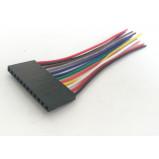Kabel żeński 12PIN (1x12pin) 2.54mm --> pojedyncze kable l=8cm