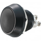 PBWC-12B Przycisk wandaloodporny, metalowy, monostabilny 2A 250V, klawisz wypukły czarny