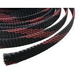 Oplot poliestrowy 8mm/16mm R=100m czarno-czerwony typ1