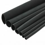 Rurka termokurczliwa z klejem 4/1mm cienkościenna 1mb czarna